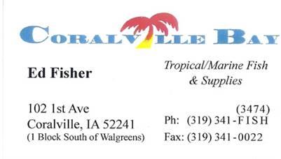 Coralville Bay - Tropical/Marine Fish & Supplies in Coralville, Iowa.